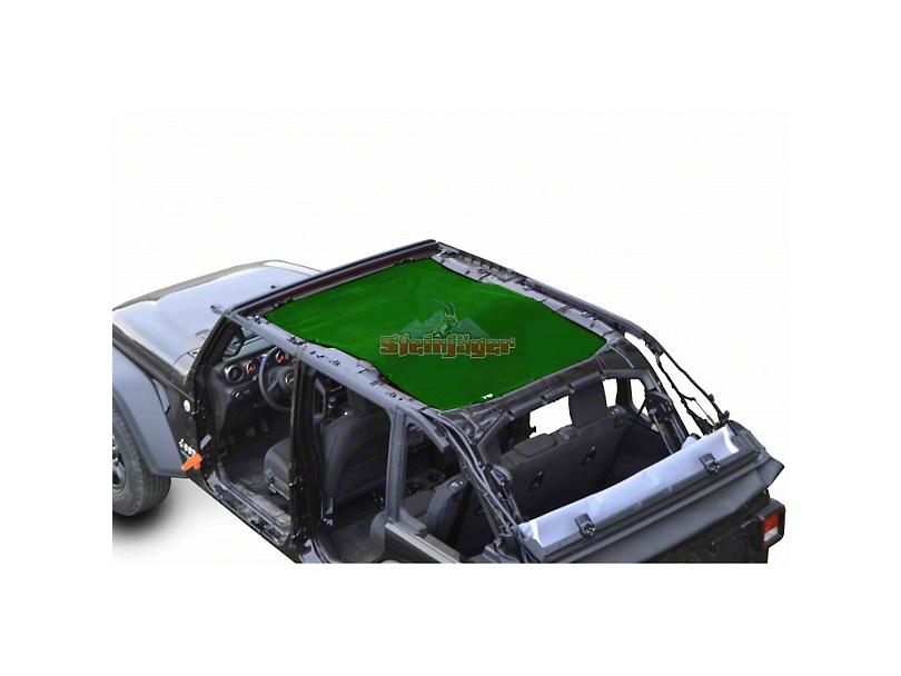 Steinjager Teddy Top Full Length Solar Screen Cover - Dark Green (18-20 Jeep Wrangler JL 4 Door)