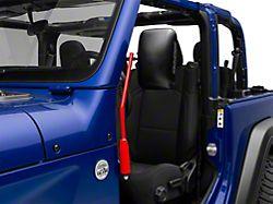 Steinjager Door Hinge Mounted Mirrors - Red Baron (18-19 Jeep Wrangler JL)