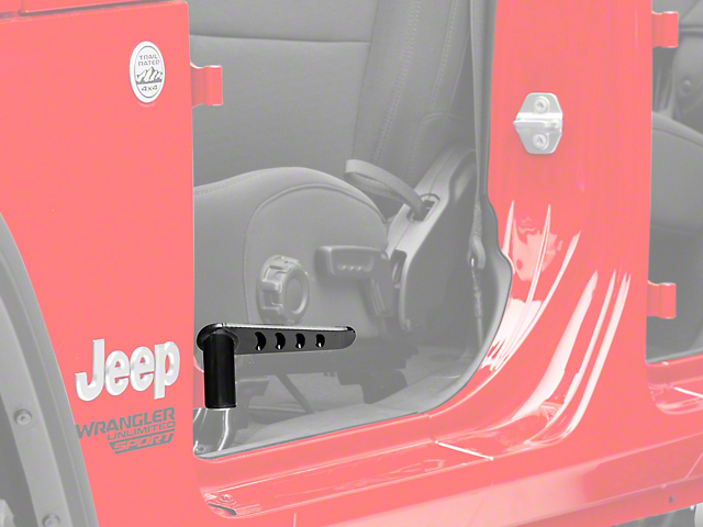 Steinjager Stationary Foot Pegs; Black (18-20 Jeep Wrangler JL)