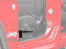 Steinjager Stationary Foot Pegs; Black (18-20 Jeep Wrangler JL)