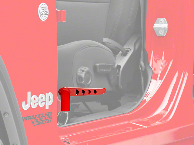Steinjager Stationary Foot Pegs; Red Baron (18-20 Jeep Wrangler JL)