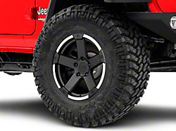 Rovos Danakil Charcoal with Machined Lip Wheel; 17x9 (18-20 Jeep Wrangler JL)
