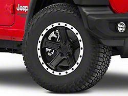 Rovos Tenere Matte Black with Machined Lip Wheel; 17x9 (18-20 Jeep Wrangler JL)