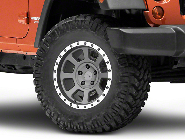 Rovos Kalahari Charcoal with Machined Lip Wheel; 17x9 (07-18 Jeep Wrangler JK)