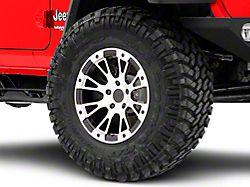 Rovos Karoo Clodd Black Machined Wheel; 17x9 (18-20 Jeep Wrangler JL)