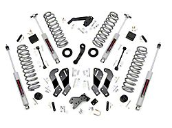 Rough Country 3.5 in. Suspension Lift Kit w/ Control Arm Drop Brackets (07-18 Jeep Wrangler JK 4 Door)
