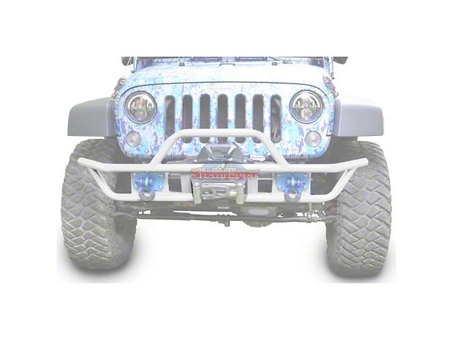 steinjager jeep wrangler tube front bumper cloud white j0048132 07 18 jeep wrangler jk. Black Bedroom Furniture Sets. Home Design Ideas