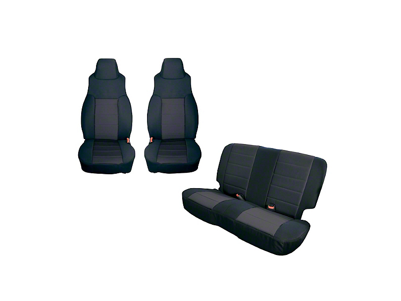 Rugged Ridge Front and Rear Seat Covers - Black (91-95 Jeep Wrangler YJ)