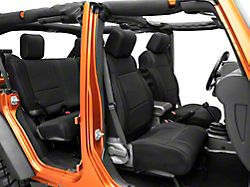 Rugged Ridge Front and Rear Seat Covers; Black (07-18 Jeep Wrangler JK 4-Door)