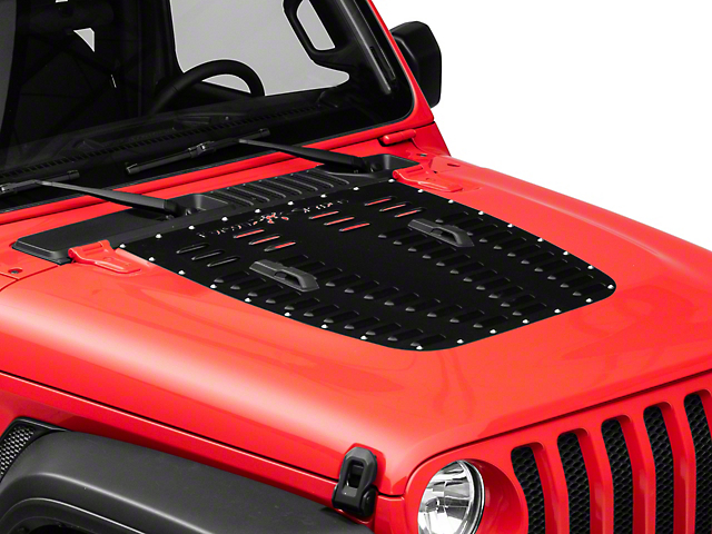 Poison Spyder Hood Louver; SpyderShell Armor Coat (2020 Jeep Gladiator JT)