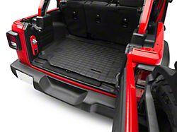 Weathertech DigitalFit Cargo Liner; Black (18-21 Jeep Wrangler JL 4-Door w/ Subwoofer & Flat Load Floor, Excluding 4xe)