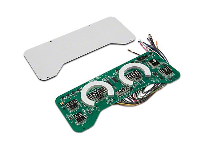 LED Digital Gauge Panel - Red (97-06 Jeep Wrangler TJ)