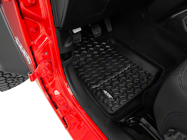 Rugged Ridge All-Terrain Front & Rear Floor Mats - Black (18-19 Jeep Wrangler JL 4 Door)