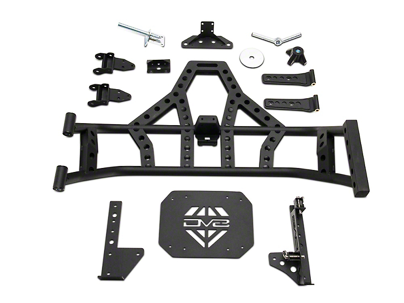 DV8 Off-Road Body Mounted Tire Carrier (18-20 Jeep Wrangler JL)
