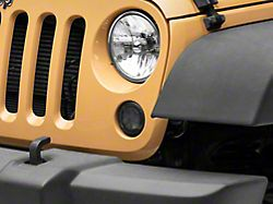 Axial LED Turn Signals with Halo; Smoked (07-18 Jeep Wrangler JK)