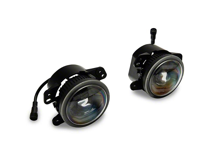 Axial LED Fog Lights w/ Daytime Running Lights (10-18 Jeep Wrangler JK)