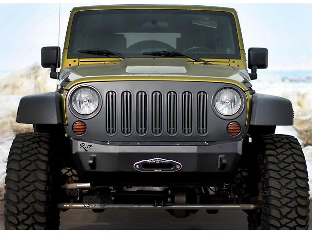 Rock-Slide Engineering Rigid Series Front Bumper Bolt-On Winch Delete Plate (07-18 Jeep Wrangler JK)