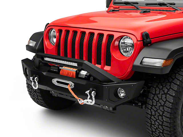 Barricade HD Front Bumper w/ 20 in. Light Bar (18-19 Jeep Wrangler JL)