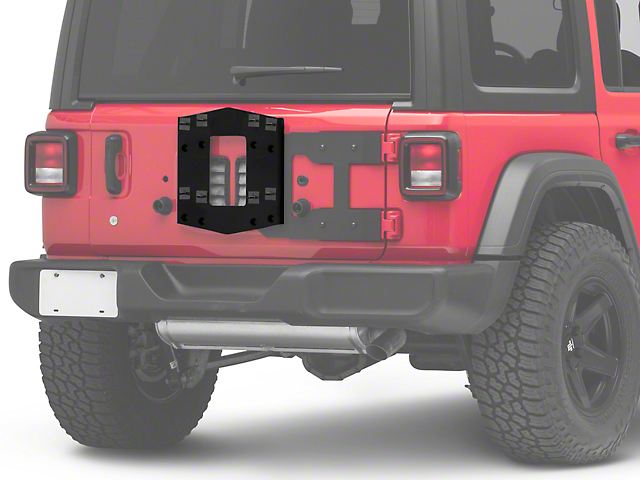 RedRock 4x4 HD Tailgate Mounted Tire Carrier (18-20 Jeep Wrangler JL)