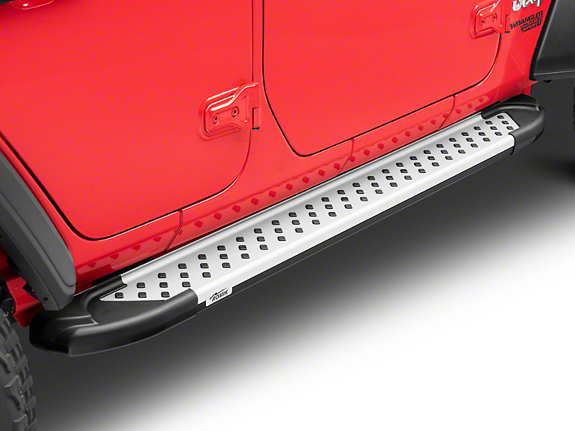Romik RAL-S Running Boards - Silver (18-20 Jeep Wrangler JL 4 Door)