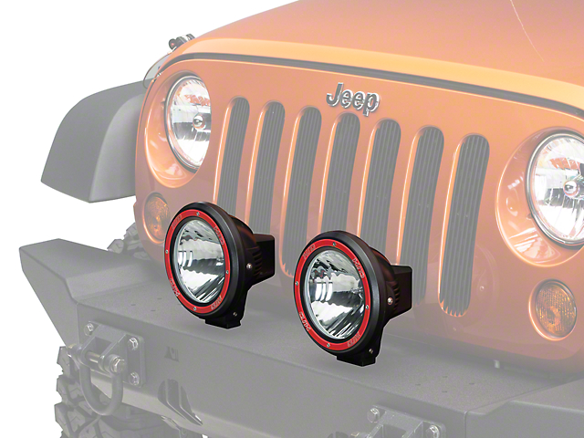 Rugged Ridge 7 in. Round HID Off-Road Fog Lights - Pair (87-19 Jeep Wrangler YJ, TJ, JK & JL)