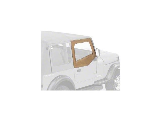 Bestop Jeep Wrangler Upper Door Skins & Frames for Factory Soft Top ...