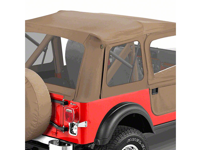 Bestop Supertop Classic Replacement Skins with Clear Windows; Spice (87-95 Jeep Wrangler YJ)