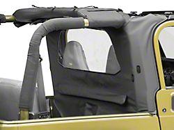 Bestop WrapAround Windjammer; Black Denim (97-02 Jeep Wrangler TJ)