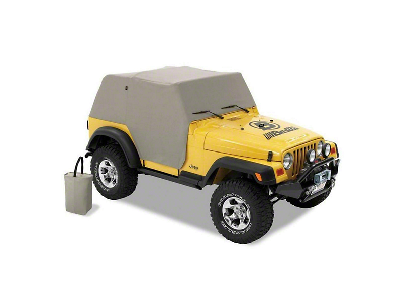 Bestop All-Weather Trail Cover - Charcoal (92-05 Jeep Wrangler YJ)