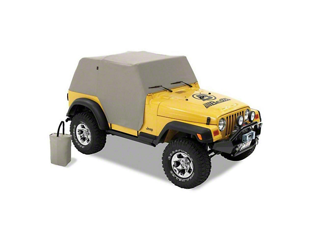 2ddfc1f474e Bestop Jeep Wrangler All-Weather Trail Cover - Charcoal 8103609 (92-05 Jeep  Wrangler YJ)