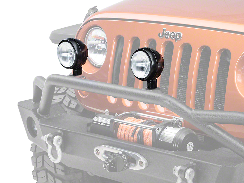 Rugged Ridge 5 in. Round HID Off-Road Fog Light w/ Black Steel Housing - Single (87-19 Jeep Wrangler YJ, TJ, JK & JL)