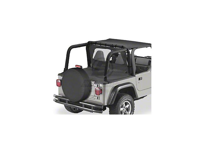 Bestop Duster Deck Cover; Black Denim (97-02 Jeep Wrangler TJ w/ Hard Top)
