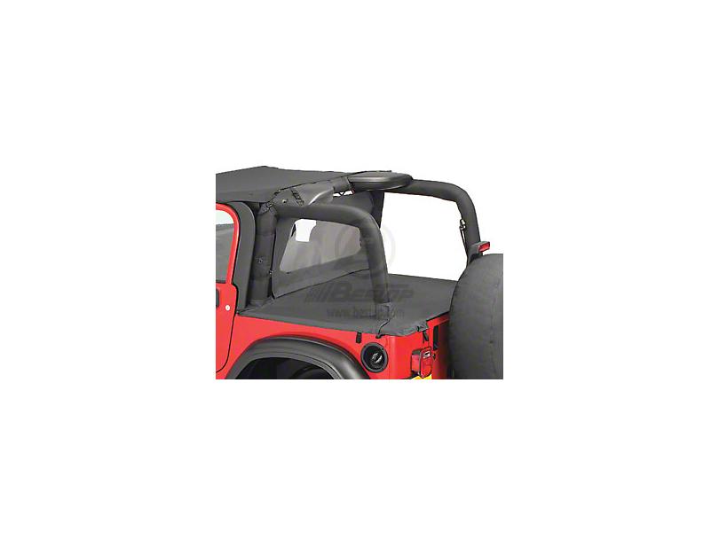 Bestop Duster Deck Cover - Black Denim (03-06 Jeep Wrangler TJ w/ Hard Top, Excluding Unlimited)