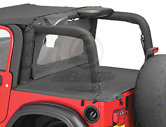 Bestop Duster Deck Cover - Black Denim (03-06 Jeep Wrangler TJ w/ Hard Top, Excluding Unlimited)