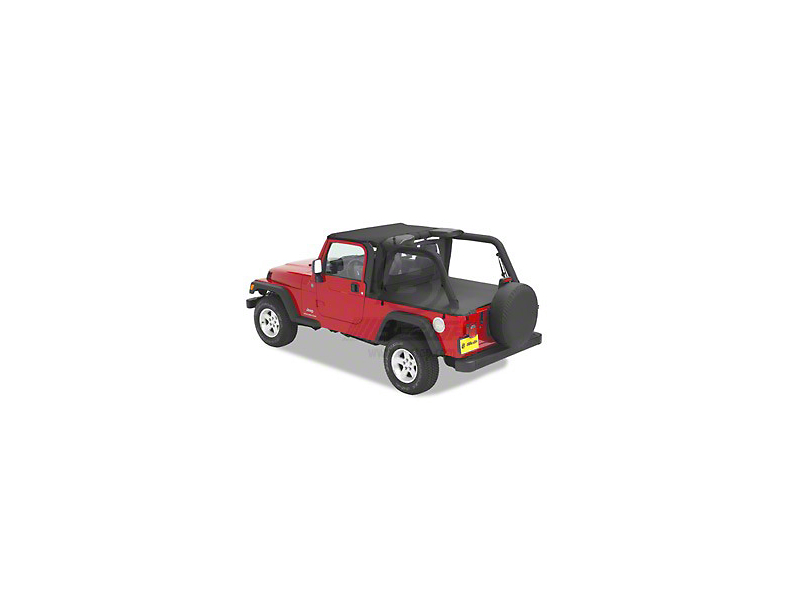 Bestop Duster Deck Cover; Black Denim (04-06 Jeep Wrangler TJ Unlimited w/ Hard Top)
