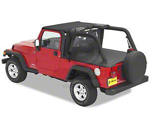 Bestop Duster Deck Cover - Black Denim (04-06 Jeep Wrangler TJ Unlimited w/ Hard Top)