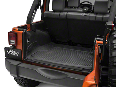 Weathertech AVM Trim-to-Fit Cargo Liner - Black (87-18 Jeep Wrangler YJ, TJ, JK & JL)
