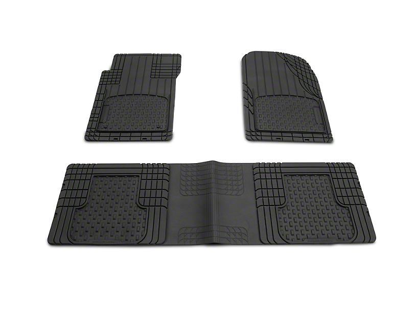 Weathertech AVM Trim-to-Fit 3-Piece Front & Rear Liners - Black (87-19 Jeep Wrangler YJ, TJ, JK & JL)