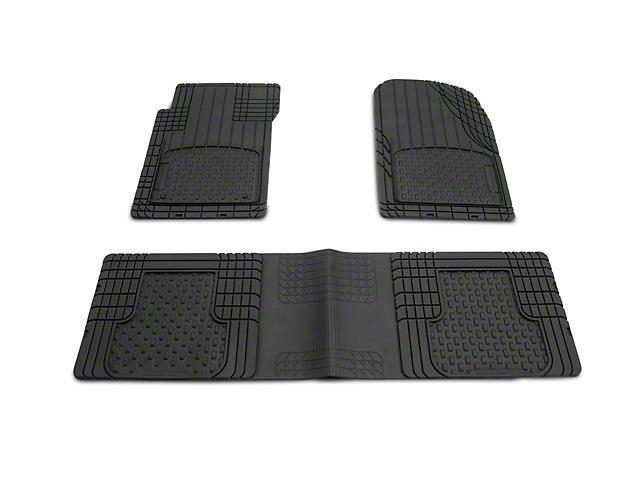 Weathertech AVM Trim-to-Fit 3-Piece Front & Rear Liners - Black (87-20 Jeep Wrangler YJ, TJ, JK & JL)