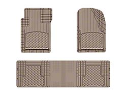 Weathertech AVM Trim-to-Fit 3-Piece Front and Rear Liners; Tan (Universal; Some Adaptation May Be Required)