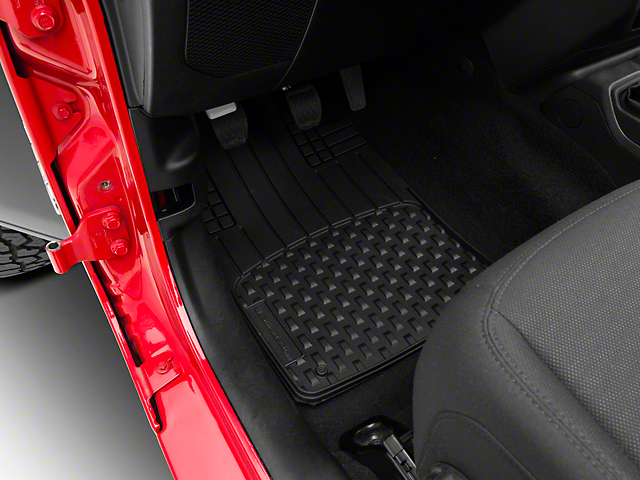 Weathertech AVM Trim-to-Fit 4-Piece Front and Rear Liners; Black (87-21 Jeep Wrangler YJ, TJ, JK & JL)