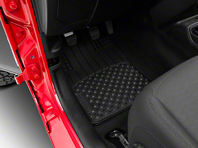 Weathertech AVM Trim-to-Fit 4-Piece Front & Rear Liners - Black (87-18 Jeep Wrangler YJ, TJ, JK & JL)