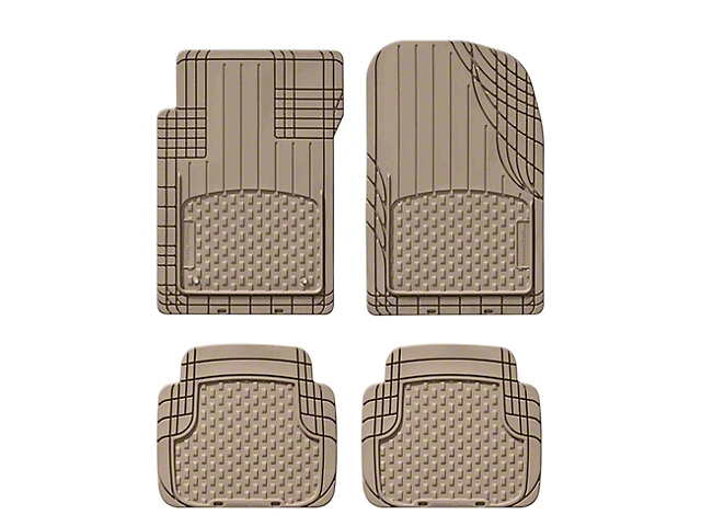 Weathertech AVM Trim-to-Fit 4-Piece Front and Rear Liners; Tan (87-20 Jeep Wrangler YJ, TJ, JK & JL)
