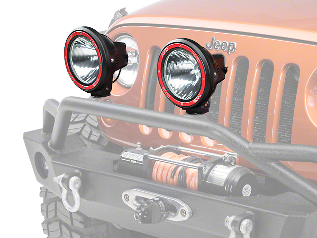 Rugged Ridge 7 in. Round HID Off-Road Fog Light - Single (87-18 Jeep Wrangler YJ, TJ, JK & JL)