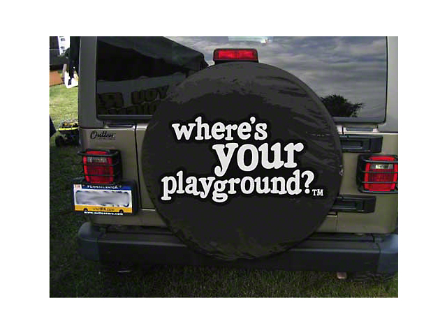 Where's Your Playground Spare Tire Cover (87-19 Jeep Wrangler YJ, TJ, JK & JL)