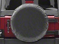 Spare Tire Cover; Solid Black (66-18 Jeep CJ5, CJ7, Wrangler YJ, TJ & JK)
