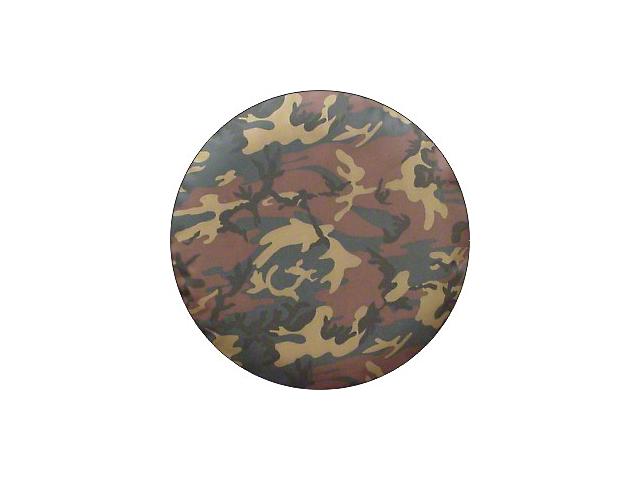 Spare Tire Cover; Camouflage (87-18 Jeep Wrangler YJ, TJ & JK)