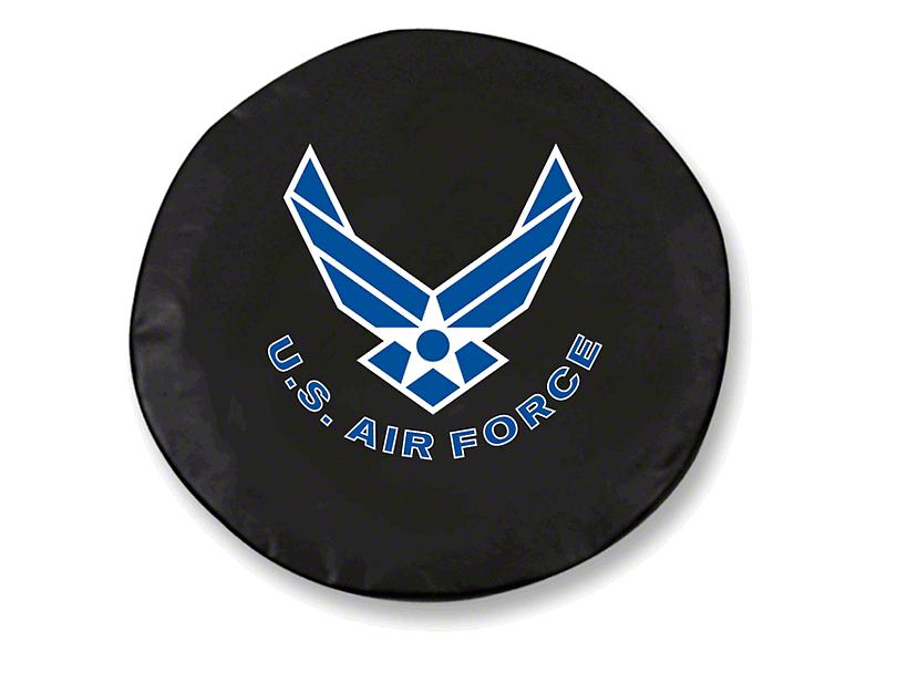 U.S. Air Force Spare Tire Cover - Black (87-20 Jeep Wrangler YJ, TJ, JK & JL)