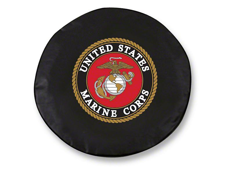 U.S. Marines Spare Tire Cover - Black (87-19 Jeep Wrangler YJ, TJ, JK & JL)