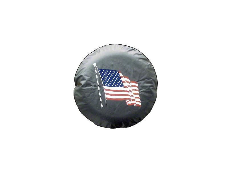 American Flag Spare Tire Cover (87-19 Jeep Wrangler YJ, TJ, JK & JL)